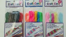 36 YARDS BRIGHT COLORED CRAFT CORD GIMP WEAVING BRAIDING BRACELETS 108 FEET