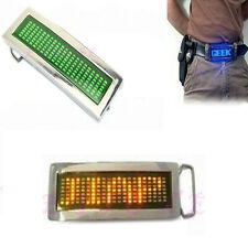Programmable LED Screen Light Text Name Display Message Scrolling Belt Buckle