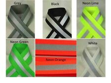 """7/8"""" Reflective Glo Grosgrain Ribbon- Select Color and Length / Yards - Sports"""