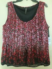 1X 2X 3X Sky's the Limit Sleeveless Women's Cruise Wear Blouse  NWT Abstract Dot