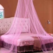 Round Lace Curtain Dome Princess Mosquito Net Bed Canopy Netting White Pink New