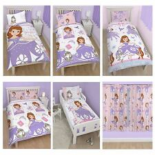 DISNEY SOFIA THE FIRST BEDDING AND BEDROOM ACCESSORIES GIRLS 100% OFFICIAL NEW