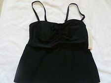 LIZ LANGE MATERNITY BATHING SUIT TOP, SIZE XS, BLACK - NEW WITH TAG
