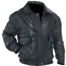 Black Genuine Leather Napoline Bomber Jacket Rock Motorcycle Biker Mens Coat