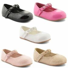 New Girls Kids Ballerina Flat Mary Jane Flat Ballet Patent Pumps Size UK 4-10