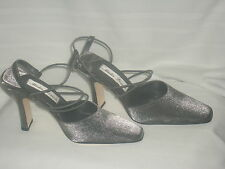 Mister Loren's Christina Pewter Heels Size 6M New In Box