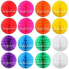 Foldable Honeycomb Ball Paper Lanterns Wedding Birthday Xmas Party Decorations