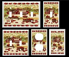 APPLE FARM APPLES IN BASKET HOME DECOR LIGHT SWITCH COVER PLATE OT OUTLET