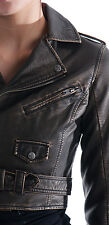 LIP SERVICE MOTO motorcycle BIKER STEAMPUNK PUNK GOTHIC FAUX LEATHER JACKET COAT