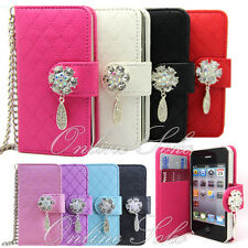 For Samsung Galaxy s3 s4 Mini s5 bling 3d Diamond Leather Wallet Flip Case Cover
