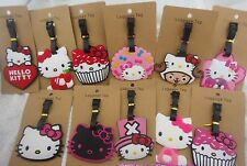 1PC Kids Children Girl Hello Kitty Travel School Bag Luggage ID Name Tag Holder