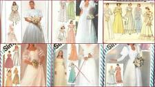 Vintage 70s 80s Simplicity Sewing Pattern Misses Bride Bridesmaids Wedding Dress