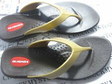 OKBASHI Gold and Black Women's Teens Sandal Size M 7-8 Flip Flop Shoes MADE USA