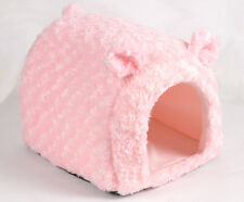 Soft LOVELY pink Rabbit Pet Dog Cat Bed House Kennel Doggy Warm Cushion Basket t