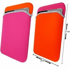 """10"""" Hot Pink Soft Neoprene Sleeve Case Cover Pouch Bag For Apple Samsung Tablet"""