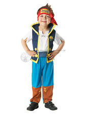 Child Disney Jake And The Never Land Pirates Fancy Dress Costume Kids Boys BN