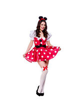 Adult Sexy Mouse Fancy Dress Costume Fairytale Outfit Minnie Ladies Maid BN