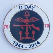 D DAY 70TH ANNIVERSARY COMBINED OPS ROUND LAPEL PIN AND WALKING STICK MOUNT