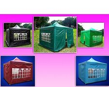 New 10 X 10' Deluxe Gazebo EZ Canopy Pop Up Tent With 4 Walls &Carrying Bag