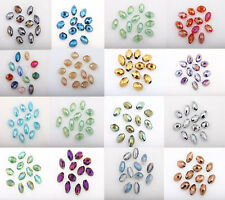 Hot Sell Hot 50Pcs AB Colorful Czech Crystal Glass Spacer Bead Jewelry DIY 8X6MM