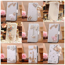 3D crystal Luxury Flip Leather Wallet Case Cover for SONY XPERIA M2 D2305 D2306