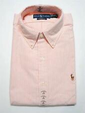 New With Tag Ralph Lauren POLO Mens Button Down OXFORD Dress Shirt ORANGE Stripe