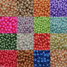 10Colors Round Glass Pearl Czech Spacer Bead Top Quality 4mm,6mm,8mm,