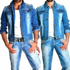 Young rich Rerock Uomo Jeans Motociclista Giacca