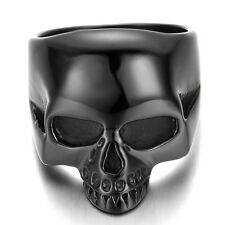 Stainless Steel Men's Ring , Color Black , Biker, Skull, Classic KR671