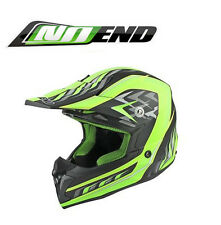 Casque cross NO END moto enduro cross scooter quad dirt Noir Vert MAT NEUF