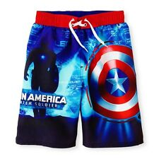 CAPTAIN AMERICA WINTER SOLDIER MARVEL Bathing Suit Swim Trunks NEW Sz. 4-8  $25