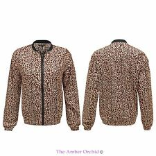 BRAVE SOUL LADIES WOMENS WATERPROOF LEOPARD PRINT LIGHT WEIGHT SUMMER JACKET