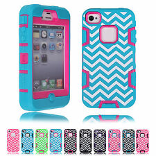 3-in-1 Design Hybrid Silicone Protective Skins Case Cover For Apple iPhone 4/4S