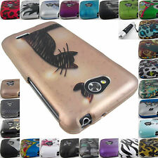FOR LG OPTIMUS PHONES L70 L90 GRAPHIC DESIGN SNAP-ON PHONE CASE COVER+STYLUS/PEN