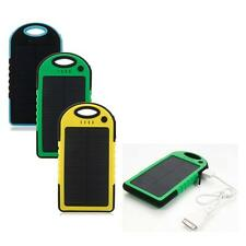 New 5000mAh Waterproof Solario Solar Power Charger for iPhone 5S Samsung Mobile