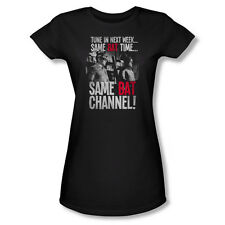 Batman Classic TV Bat Channel Junior Women T-Shirt Black S M L XL 2X