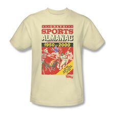 Back To The Future 2 Sports Almanac T-Shirt Adult Men Cream S M L Xl 2X 3X