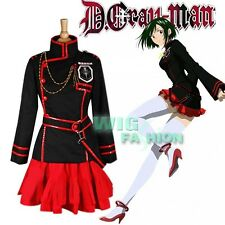 New D GRAY MAN Lenalee·Lee Anime Black Red Cosplay Costume Suit