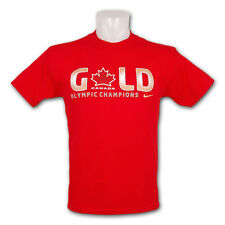 NIKE 2010 VANCOUVER TEAM CANADA MENS OLYMPIC HOCKEY GOLD MEDAL CHAMPIONS T-SHIRT