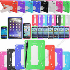 Shock Proof Builder Heavy Duty Kick Stand Case Cover For Various Mobile Tablets