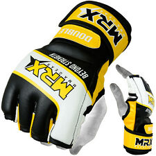 MMA GLOVES UFC GRAPPLING GLOVES BOXING CAGE MRX Yellow/Black/White