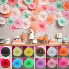 Multicolor Paper Flower Fan Parties Wedding Birthday Home Decor DIY Hanging