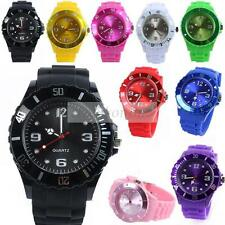 New Unisex Colored Unique Jelly Ice Watch Men Women Rubber Silicone Wrist Watch