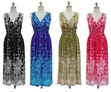 JON & ANNA Womens Paisley V-neck Surplice Sleeveless Maxi Dress Smocked Waist