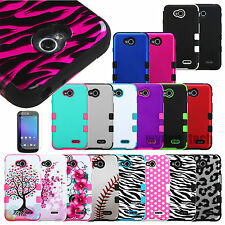 For LG Phones TUFF Case Impact Hybrid Shockproof Cover w/ Screen Protector