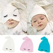 Newborns Baby Girl Boy Beanie Kids Children Infant Soft Cotton Photo Hats Bonnet