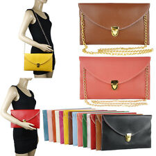 WOMENS ENVELOPE CLUTCH CHAIN CROSSBODY SHOULDER MESSENGER HANDBAG  PURSE #HBG131