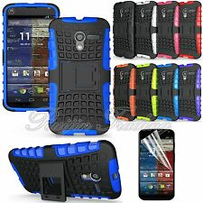 HEAVY DUTY IMPACT HARD HYBRID COVER CASE+FILM FOR MOTOROLA MOTO X