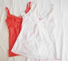 Urban Outfitters Lux Women's Sleeveless Top sz XS, S (Coral, White) NWT ($38)