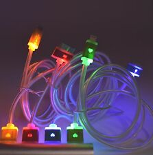 Glowing LED Light Up USB Charger Cable Micro USB (Red/Yellow/Blue/Green)